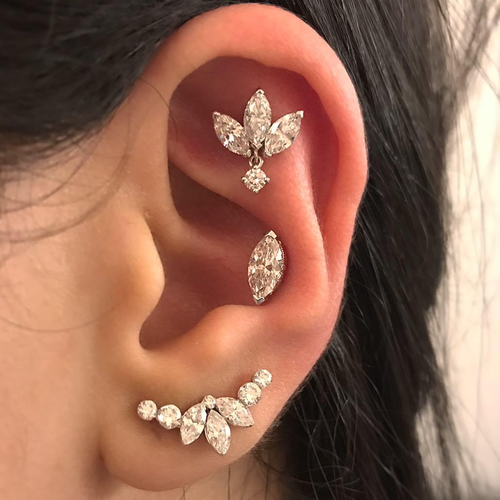 piercings multiplos joias