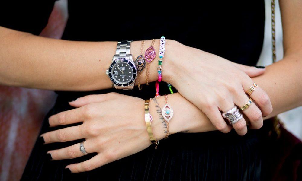 pulseiras de olho grego colorida