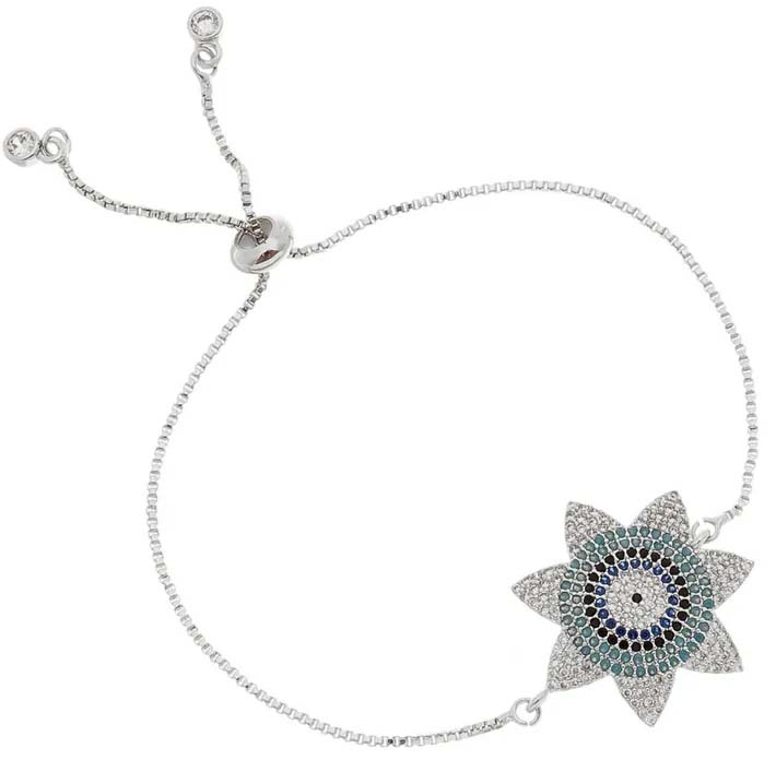 pulseiras de olho grego flor
