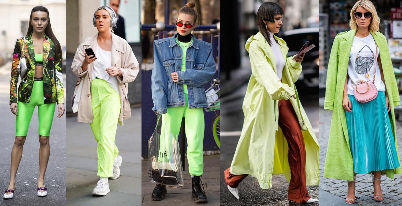 tendencias do street style 2019 neon