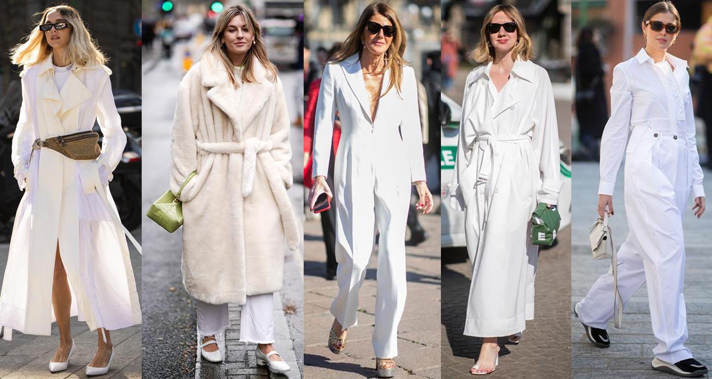 tendencias do street style 2019 total white
