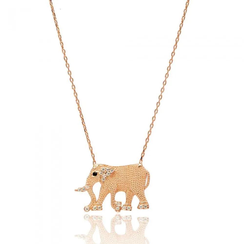 boho chic colar elefante