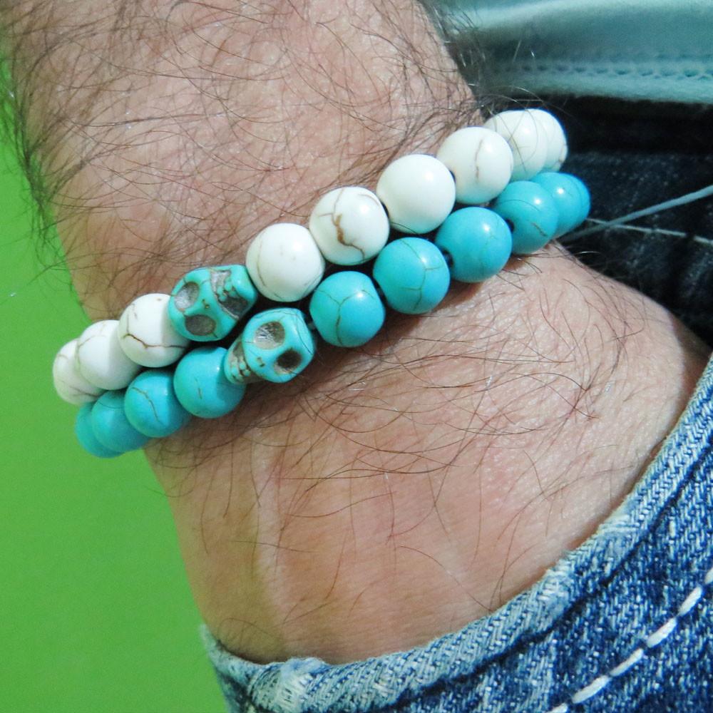 pulseira para homens pedras