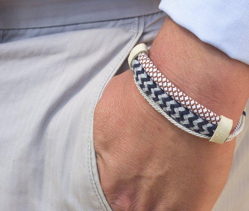pulseira para homens tecido