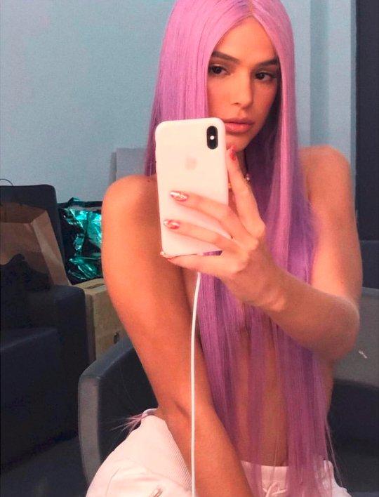 cabelo da Bruna Marquezine lilás