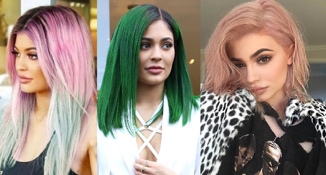 cabelos coloridos Kylie Jenner