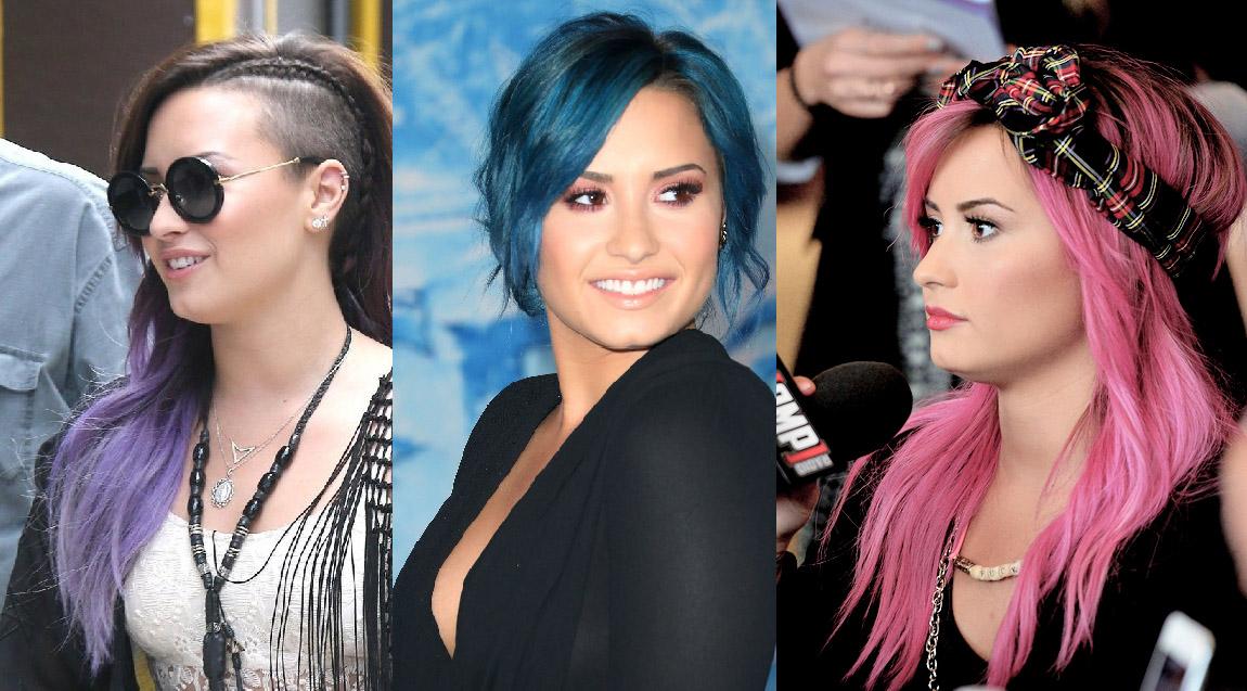 cabelos coloridos demi lovato