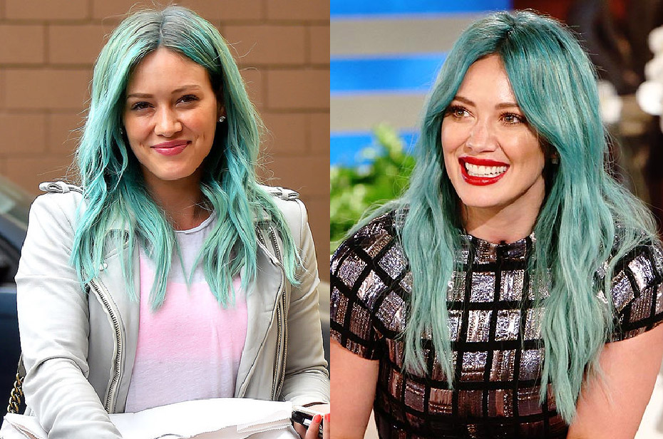 cabelos coloridos hillary duff