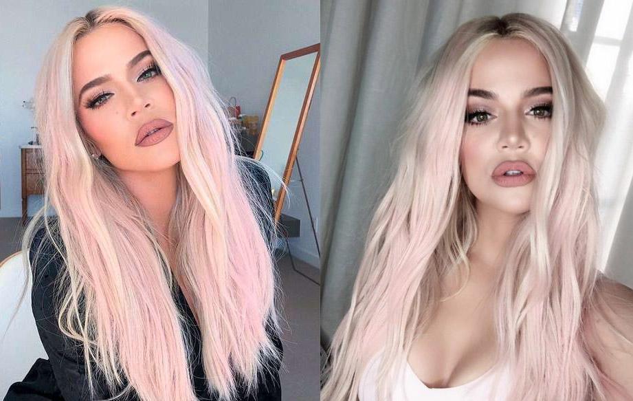 cabelos coloridos khloe kardashian