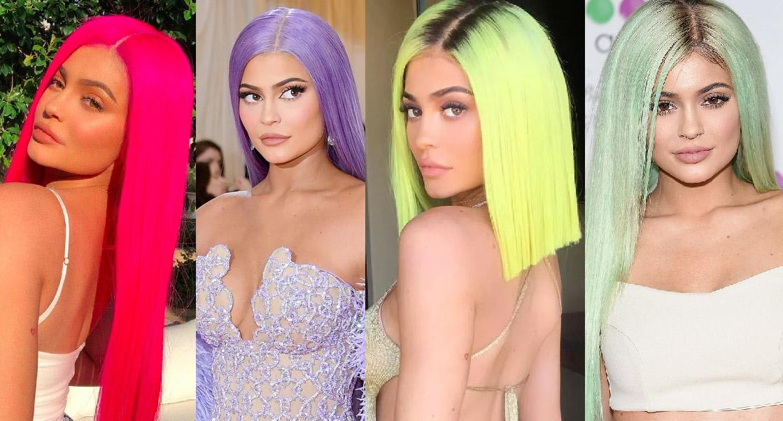 cabelos coloridos kylie  jenner perucas