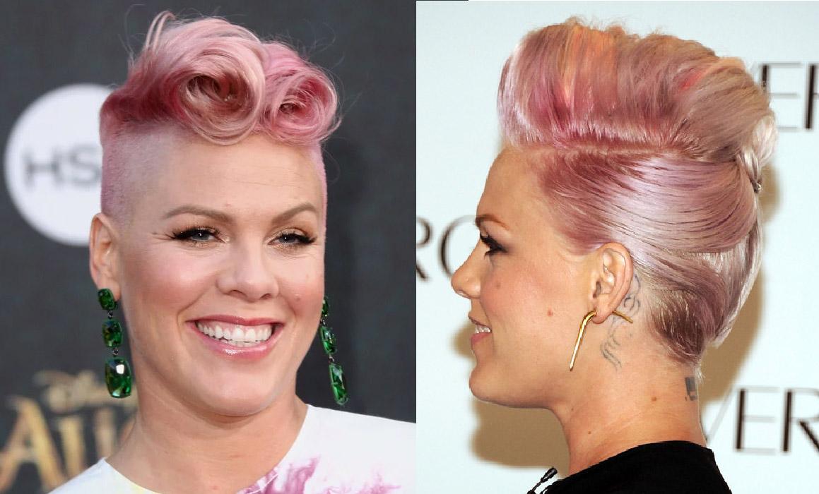 cabelos coloridos pink