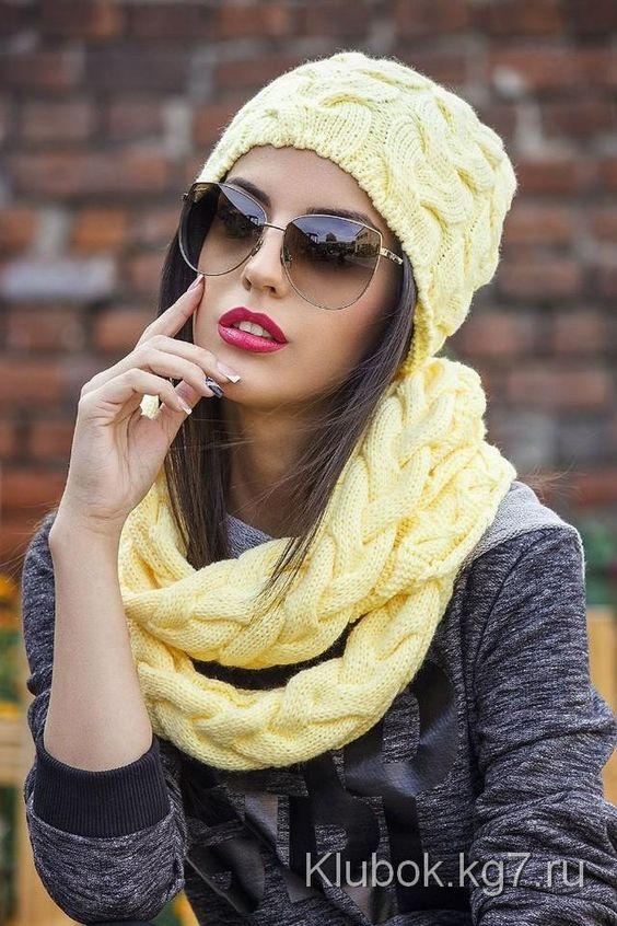 toucas e gorros trico amarelo