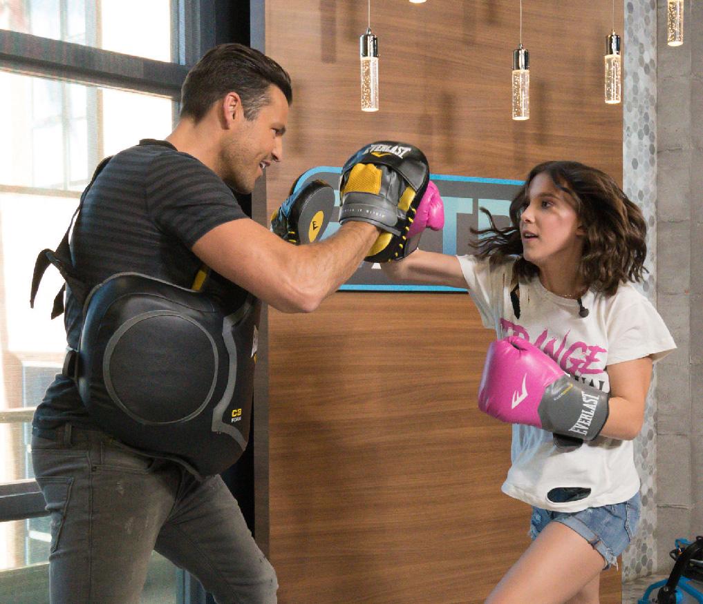 Millie Bobby boxe