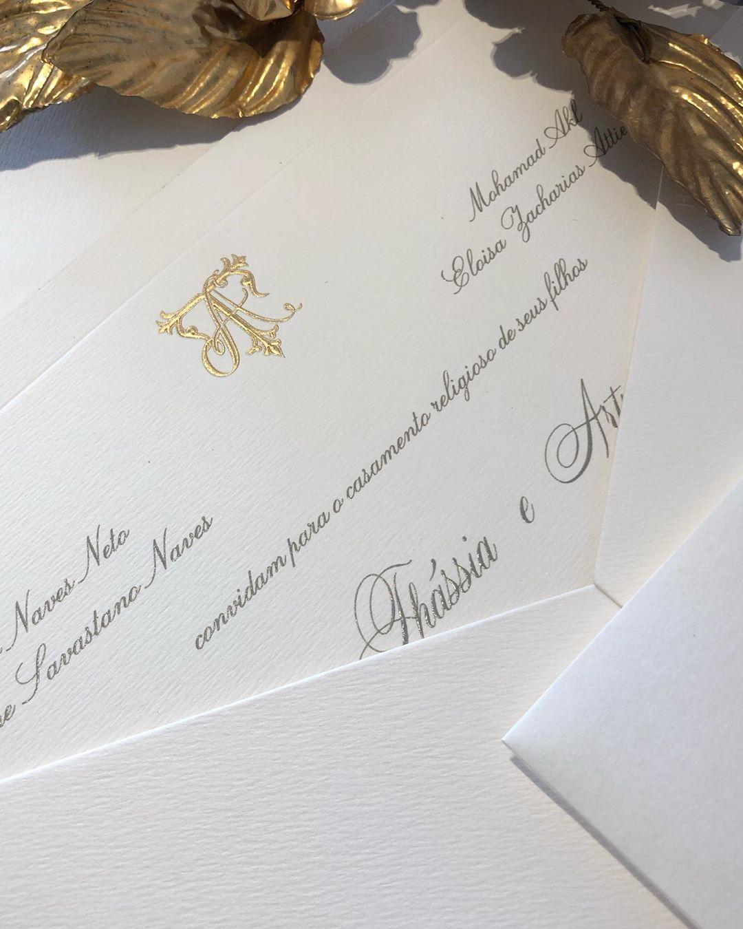 convite de casamento thassia naves
