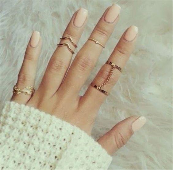 fotos de anel de falange boho
