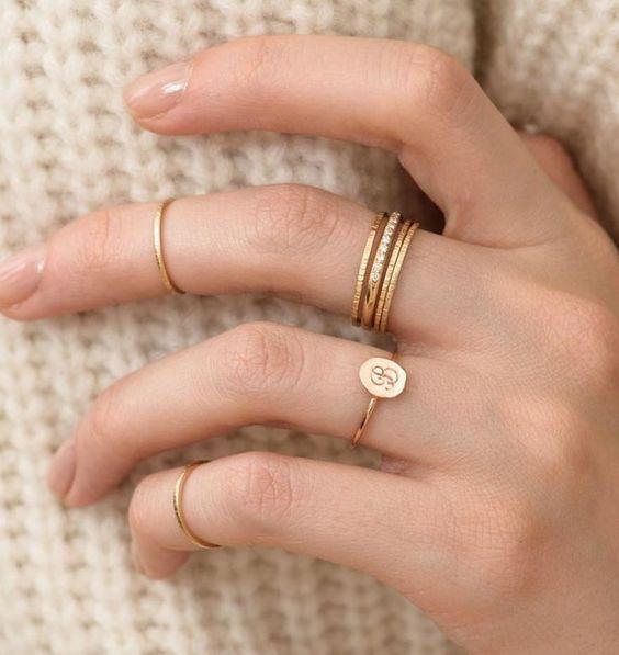fotos de anel de falange fininha
