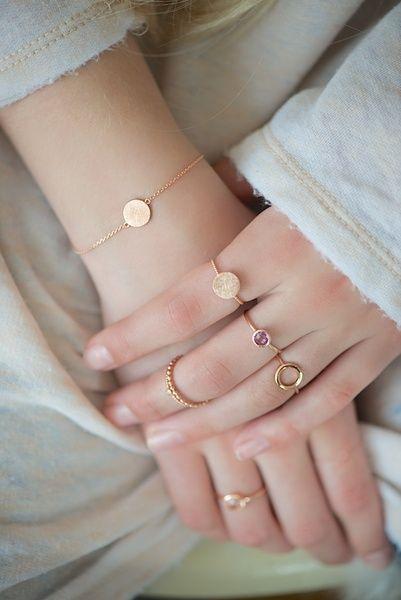 fotos de anel de falange minimalista