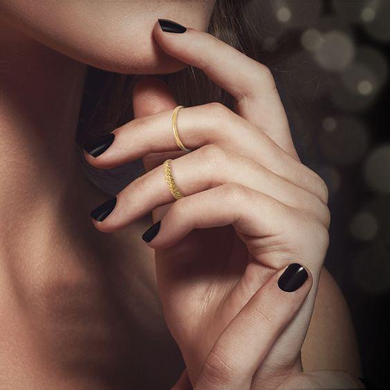 fotos de anel de falange ouro