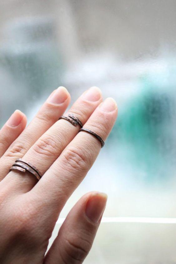 fotos de anel de falange rustico