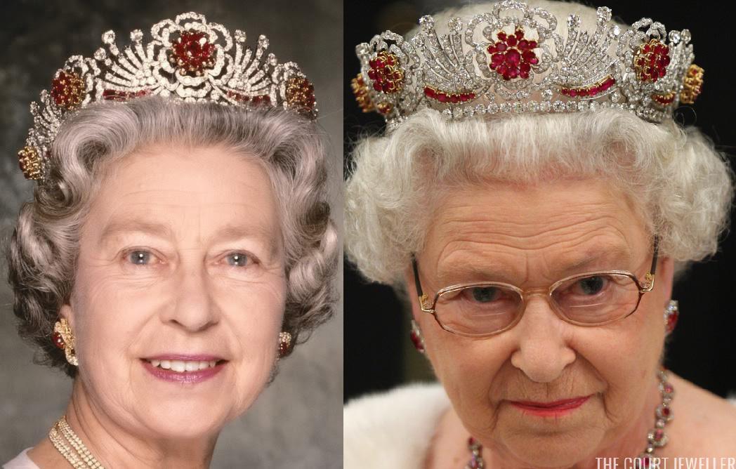 tiara de rubi da rainha elizabeth ii antes depois