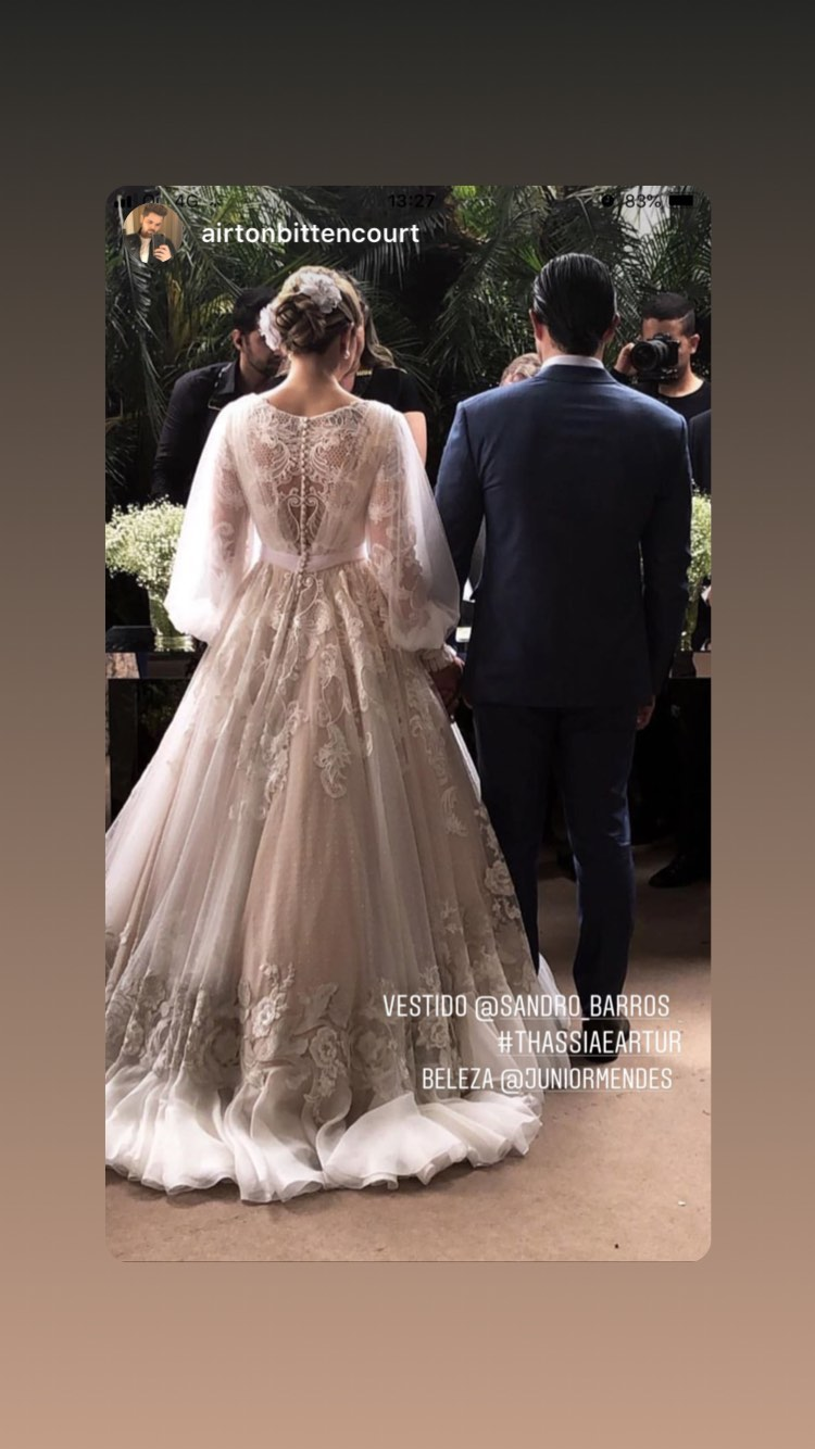 vestido de noiva da thassia naves sandro barros