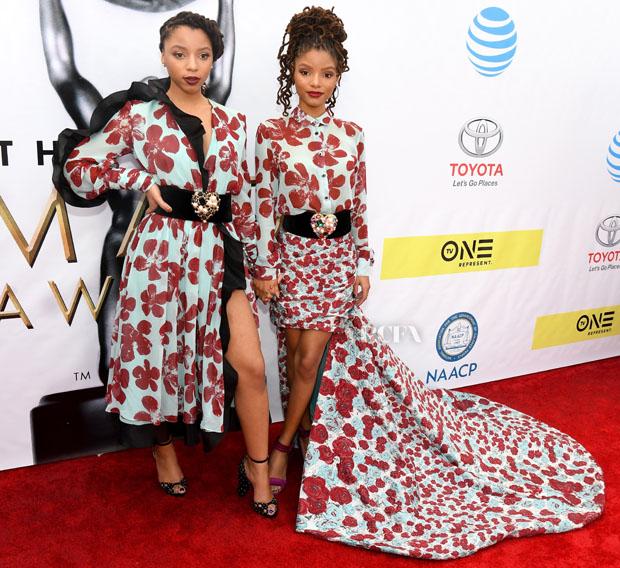 Chloe Bailey Halle Bailey Emmanuel Ungaro NAACP Image Awards