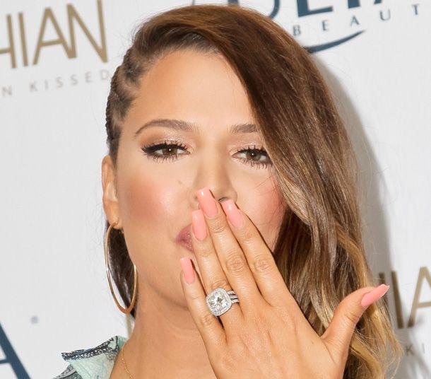 anel de noivado khloe kardashian