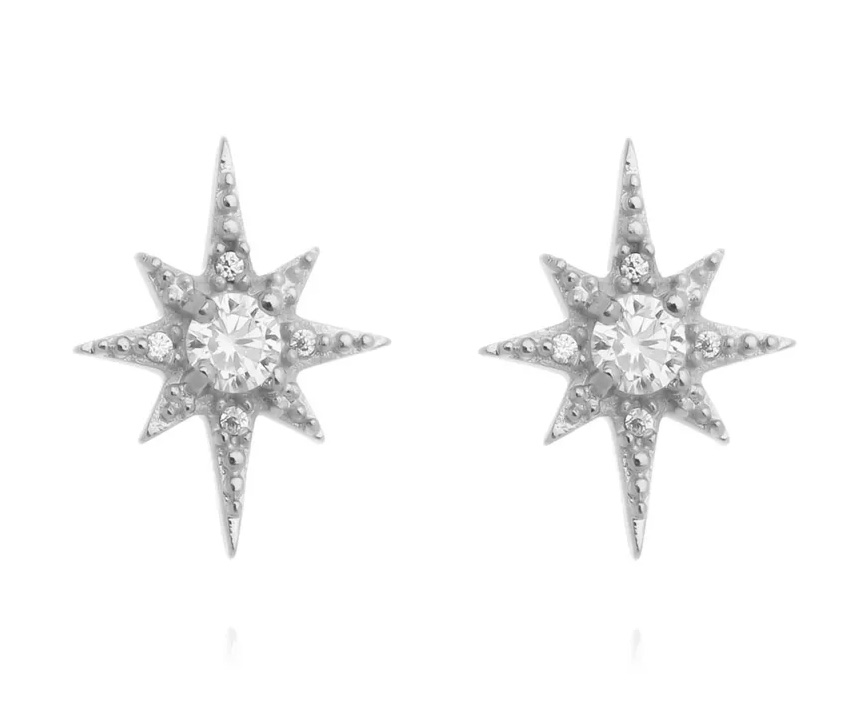 brinco de estrela estilizado