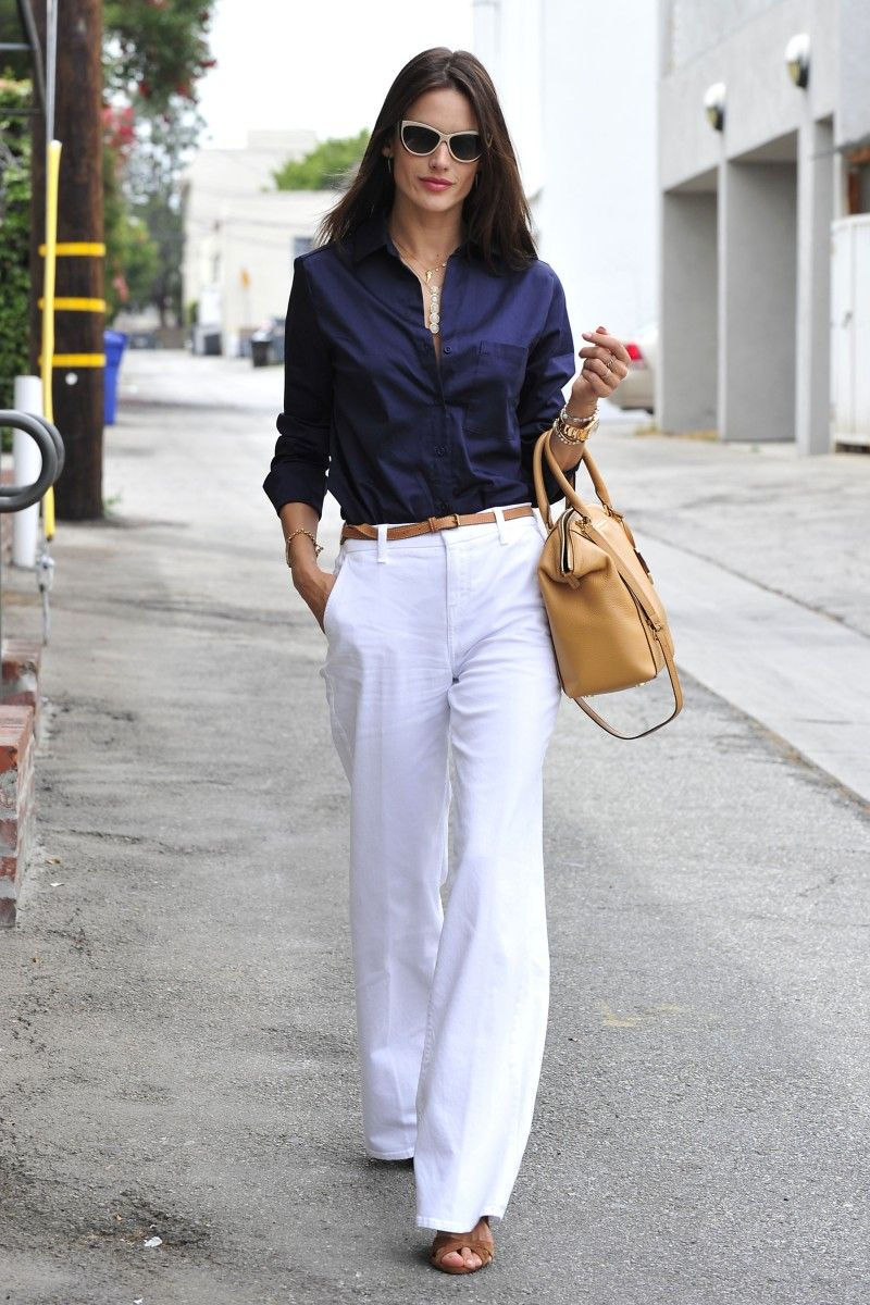 calça pantalona office look