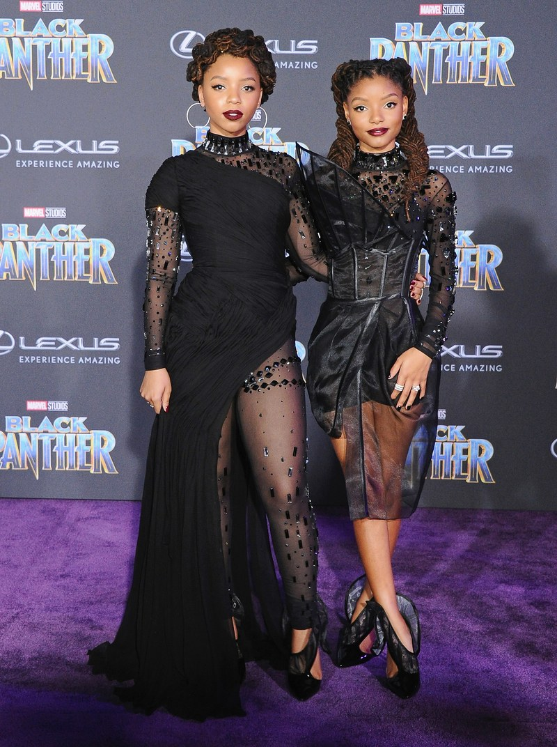chloe bailey and halle pantera negra