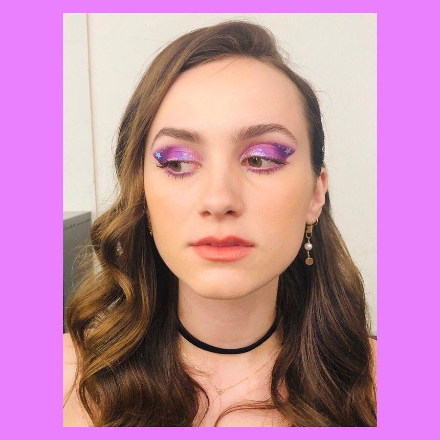 euphoria maquiagem roxa lexi