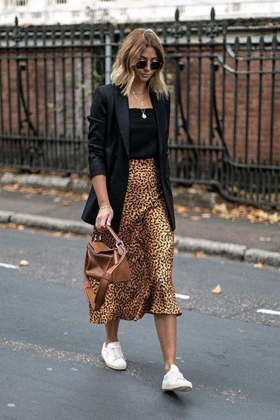 look com tenis branco animal print