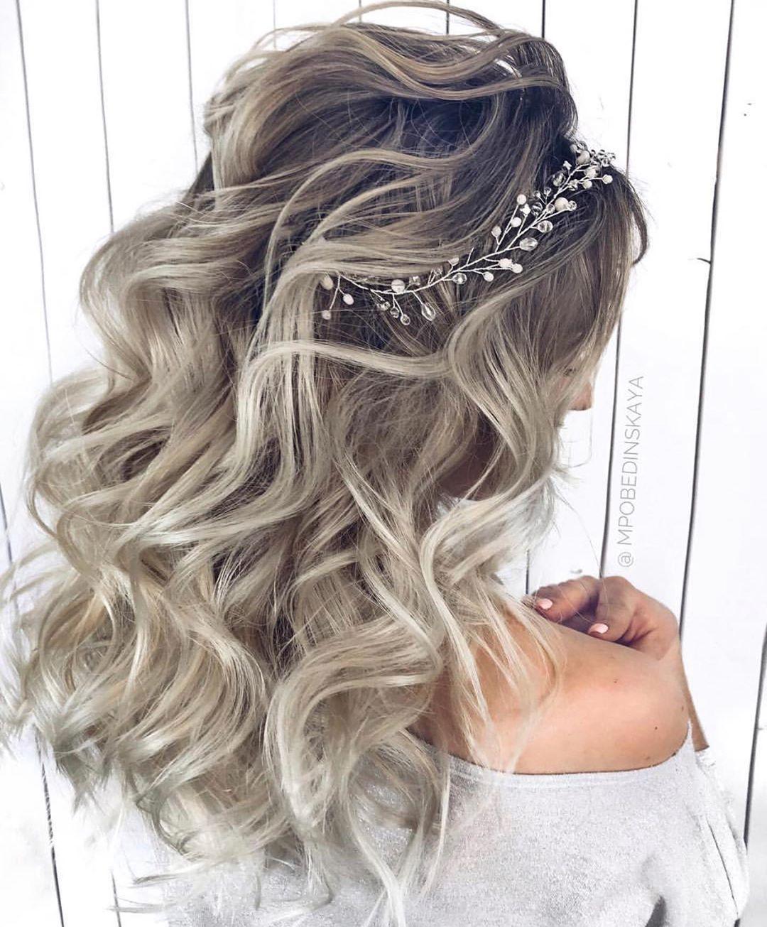 penteado de festa cabelo solto