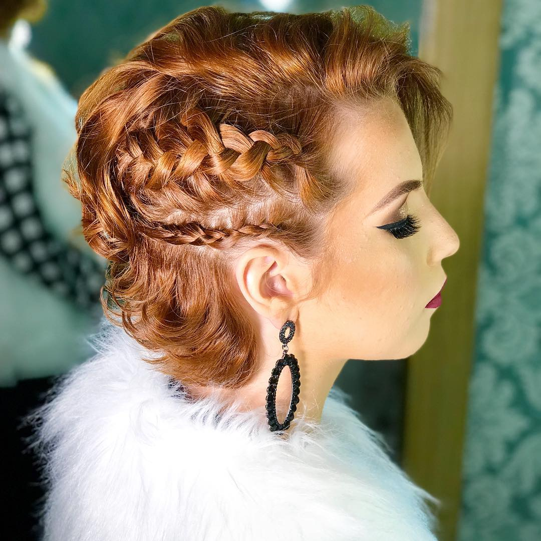 penteado de festa para cabelo curto