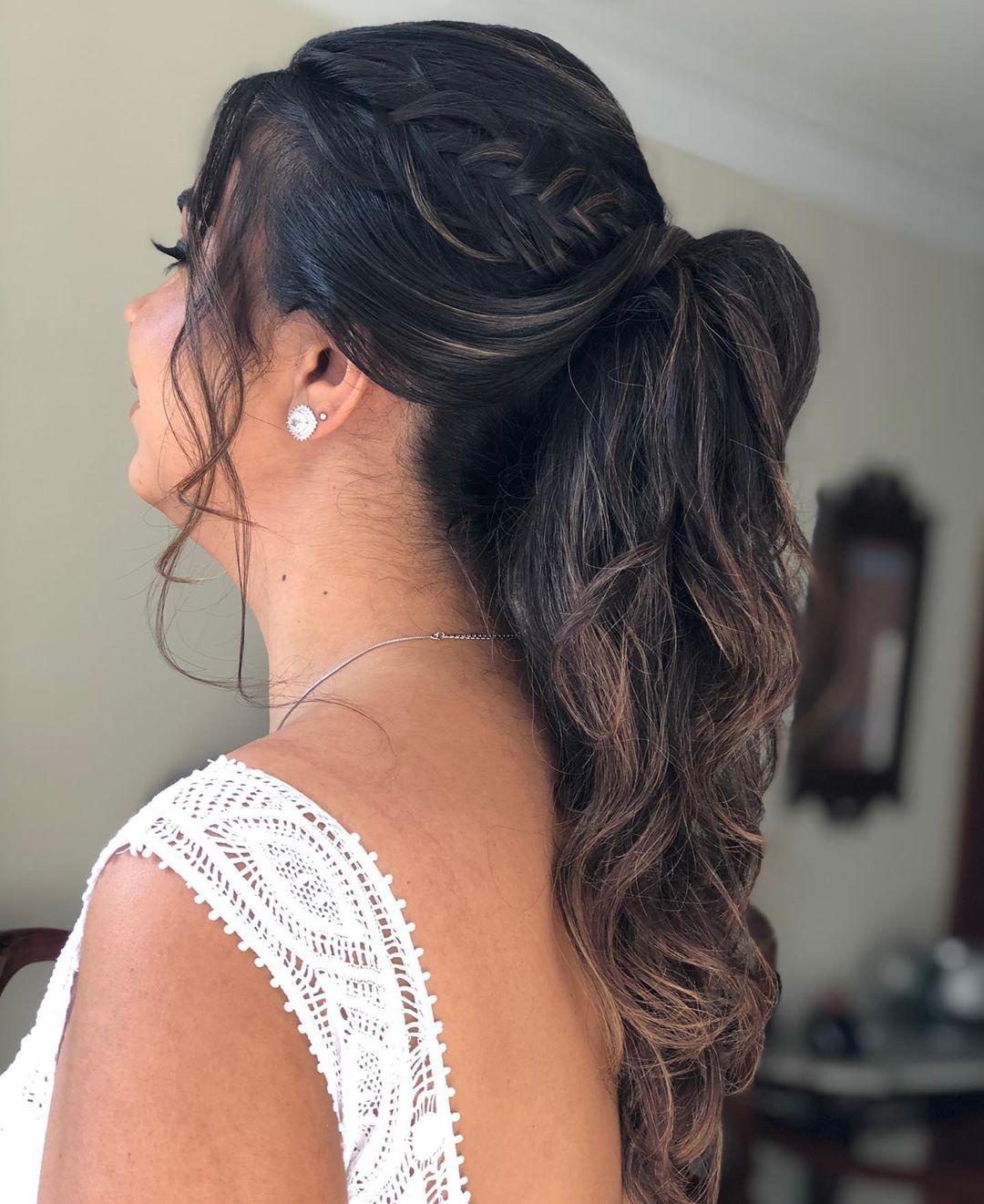 penteado de noiva rabo de cavalo
