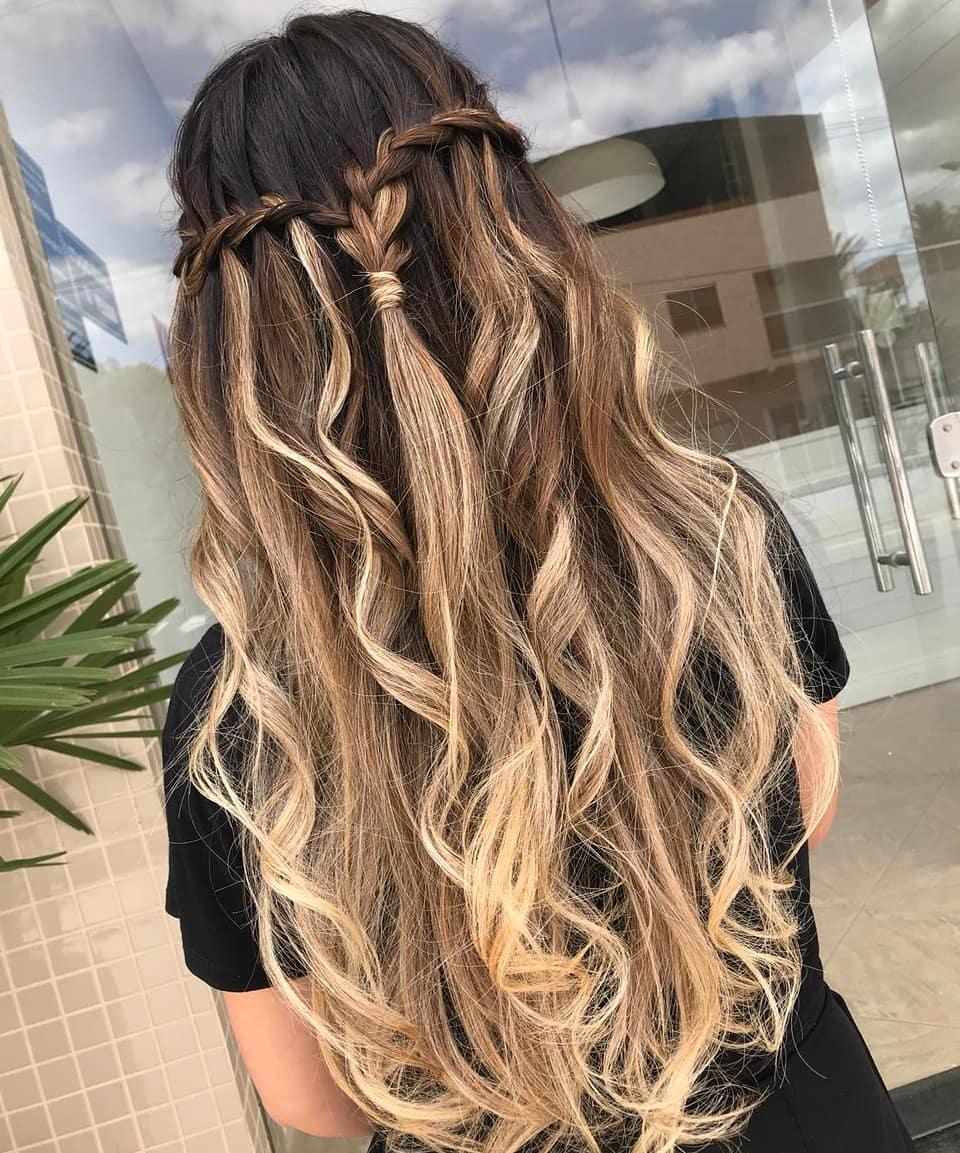 penteado para festa cabelo solto 1