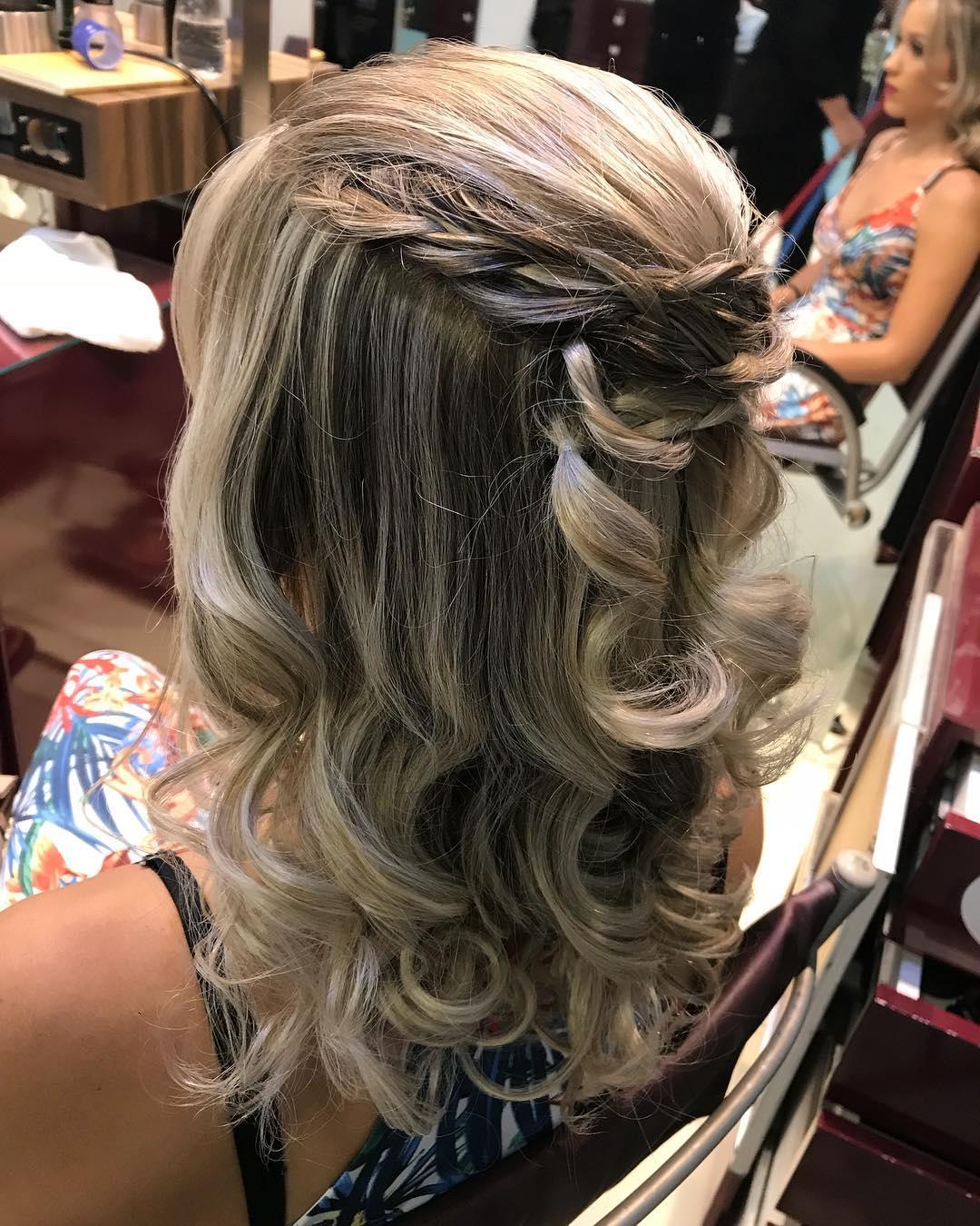 penteado para festa cabelo solto