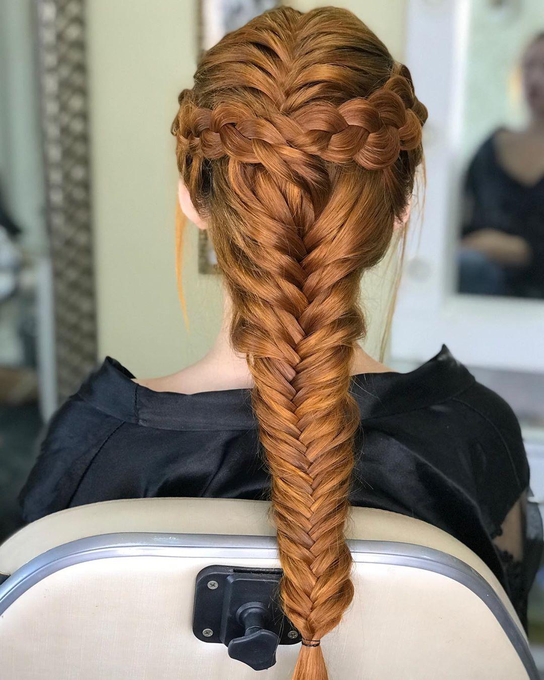penteado para festa trança