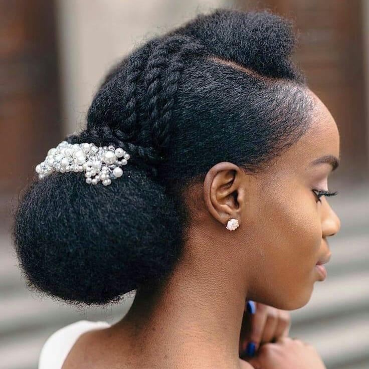 penteados de festa para cabelo crespo 1