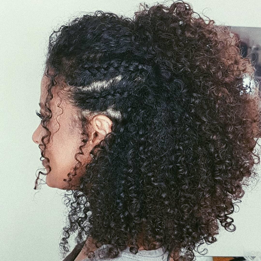 penteados de festa para cabelos cacheados 1