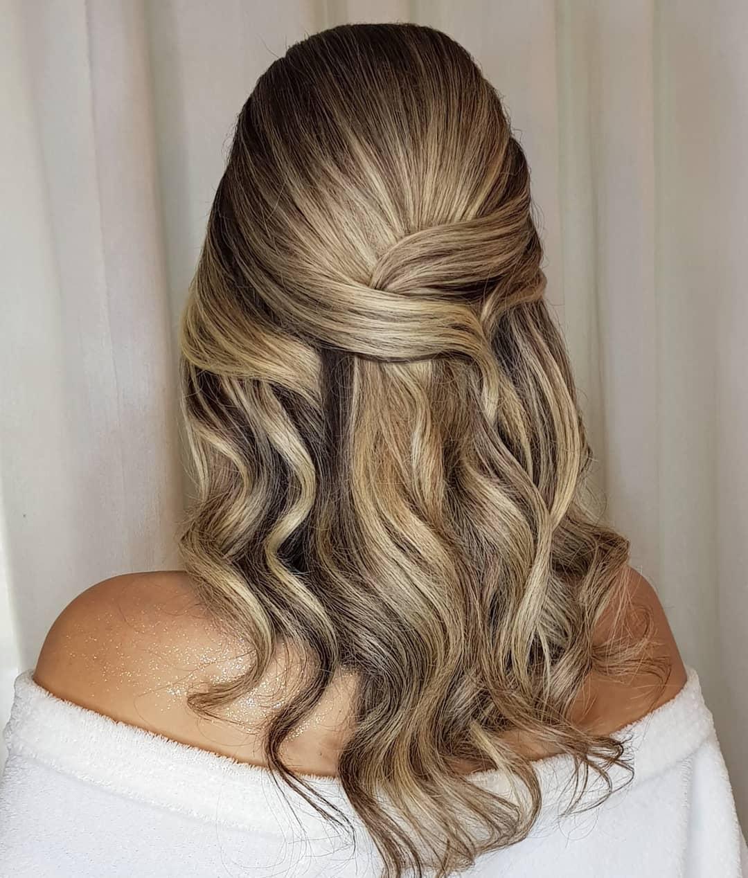 penteados de festa para cabelos medios