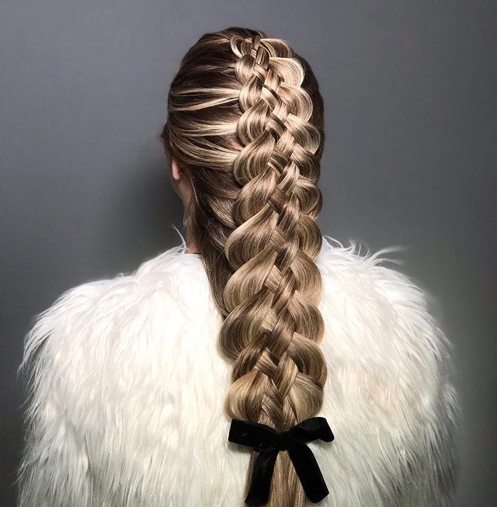 penteado -de festa tranças