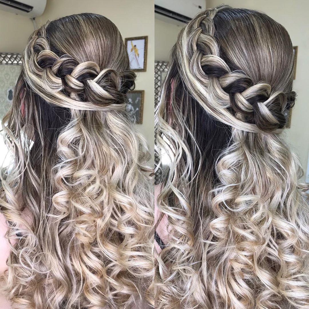 penteados para festa cabelo cacheado