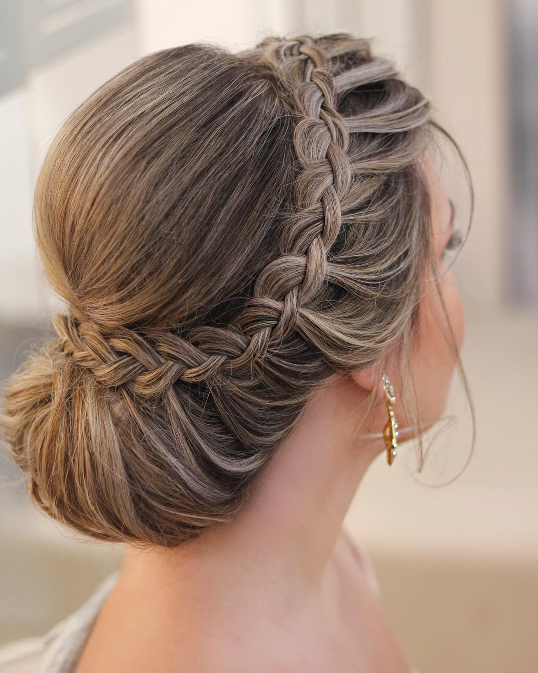 penteados para festa coque