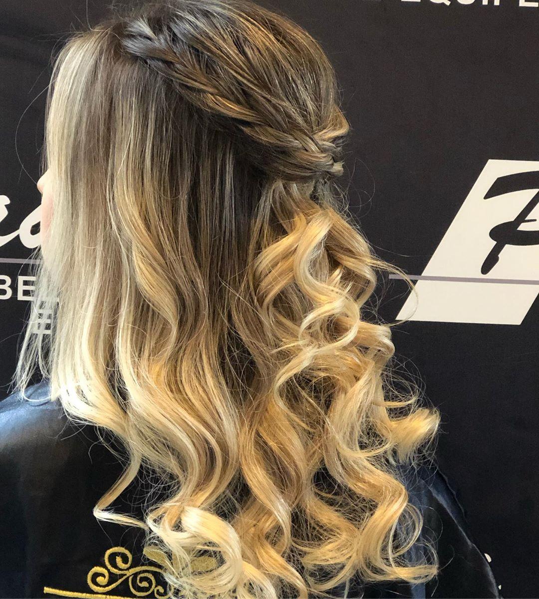 penteados para formandas cabelo medio