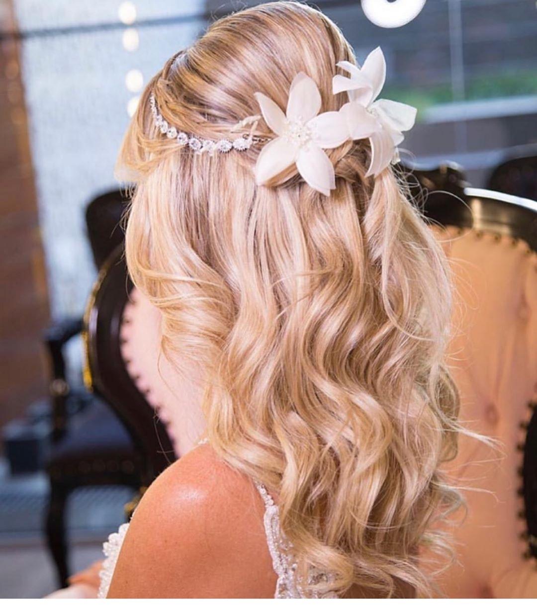 penteados para noiva solto