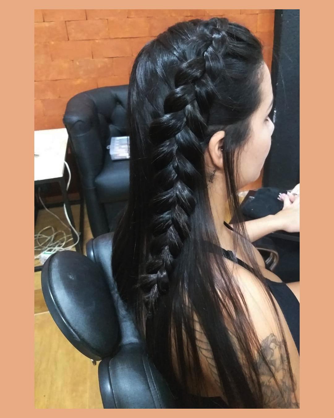trança cabelo longo