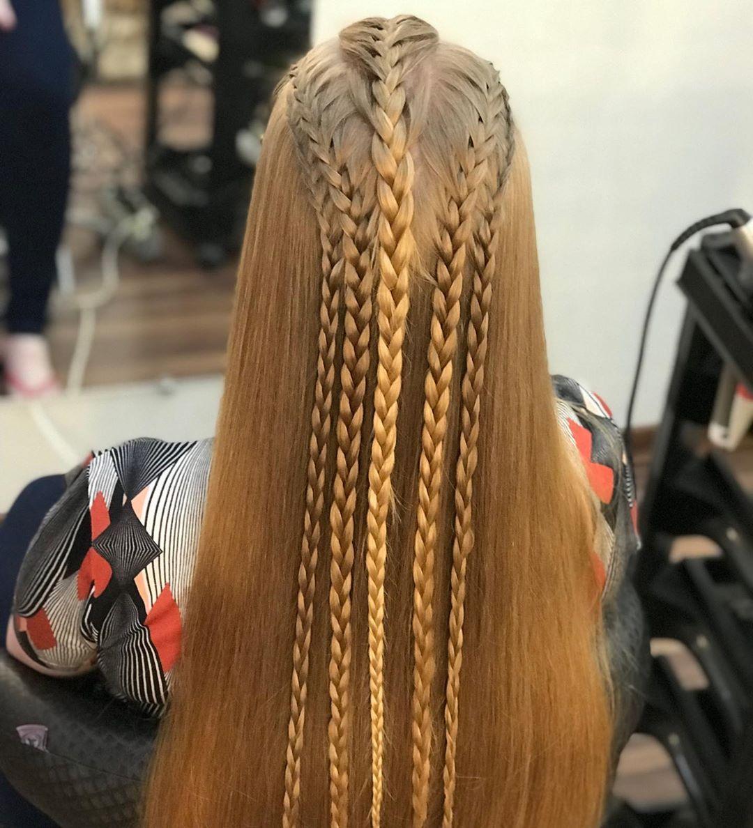tranças com cabelo solto