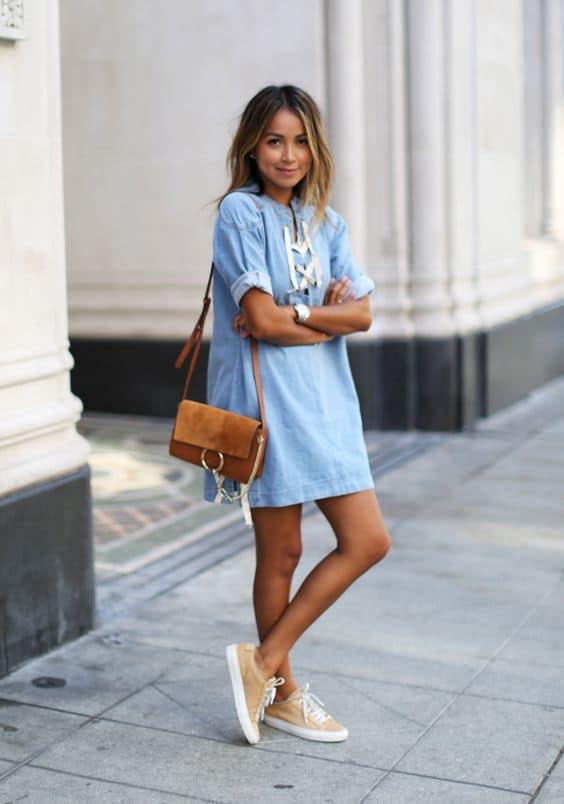 vestido com tenis