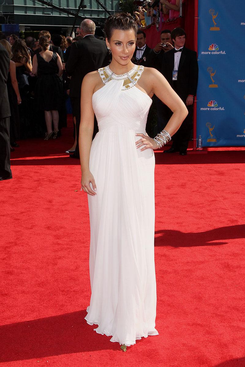 vestido de festa branco reto